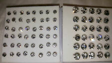 Joblot 39 pairs 4mm & 7mm Hypoallergenic Diamante stud Earrings - NEW Wholesale