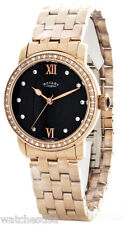 Rotary Women's Rose Gold-Plated Black Dial Watch LB00122/13