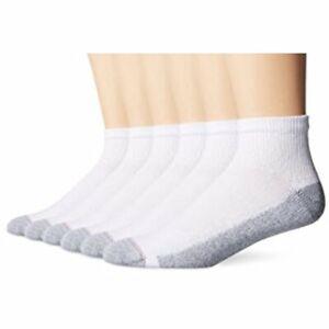 """Hanes® Men's 10-Pair Ankle Socks """"FreshIQ® & Ultimate® & ComfortBlend® """""""