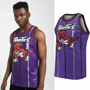 XXL NEW Toronto Raptors #1 Tracy McGrady Swingman Basketball Jersey Size S