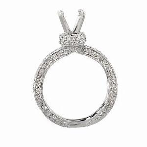 18k Weißgold Diamant Verlobung Ring Halb 0,50 Ct Tdw Größe 6 GroßE Vielfalt