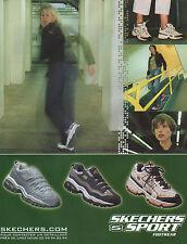 Publicité 2000  SKECHERS SPORT Footwear chaussure basket sport collection mode