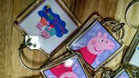 12 Peppa Pig Key Chains, Zipper Pulls, Birthday Party Favor Treat Keychains