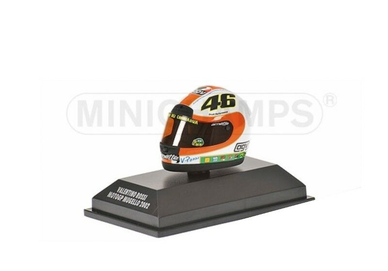 MINICHAMPS MINICHAMPS MINICHAMPS 397 010046 010076 0200 46 020076 AGV Helmets-V Rossi 2001-02 1:8th a6c232