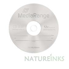 5 MEDIARANGE CD-RW 1x - 12X REWRITABLE Vuoto Dischi CD RW Alta Ultra Burn mr235