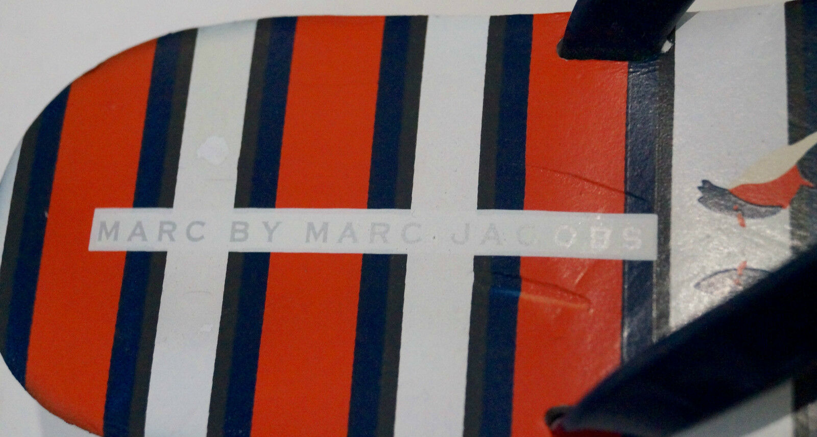 MARC BY MARC JACOBS Multi Colour Stripe Rubber Platform Flip Flops Sandale EU39