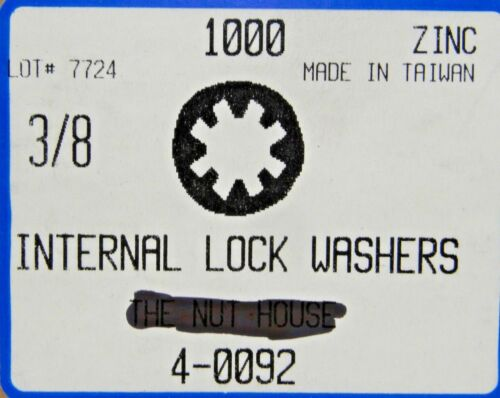 1//2  Internal Tooth Lock Washers Steel Zinc Plated 500 count box