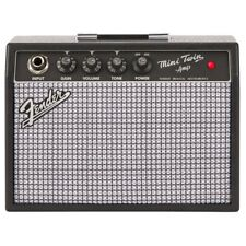 "Fender Mini '65 Twin Portable Guitar Amp, Battery Powered, Two 3"" Speakers"