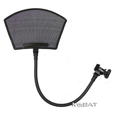 MSBAT PF-9 Recording Studio Microphone POP Filter Louvered Metal Mesh Arched Top