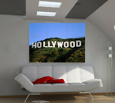 Hollywood California big giant countries poster print photo mural wall art id533
