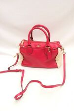 NWT COACH Shearling Leather Bennett Mini Satchel Crossbody #F36689 Cranberry