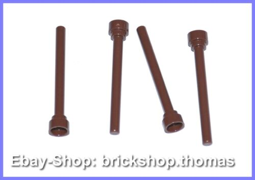 3957b NEU // NEW Lego 4 x Antenne braun Antenna Reddish Brown 1x4
