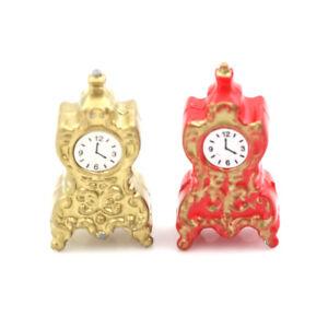 Dollhouse-Miniature-Toy-1-12-Living-Room-Porcelain-Clock-H-2-7cm-FT