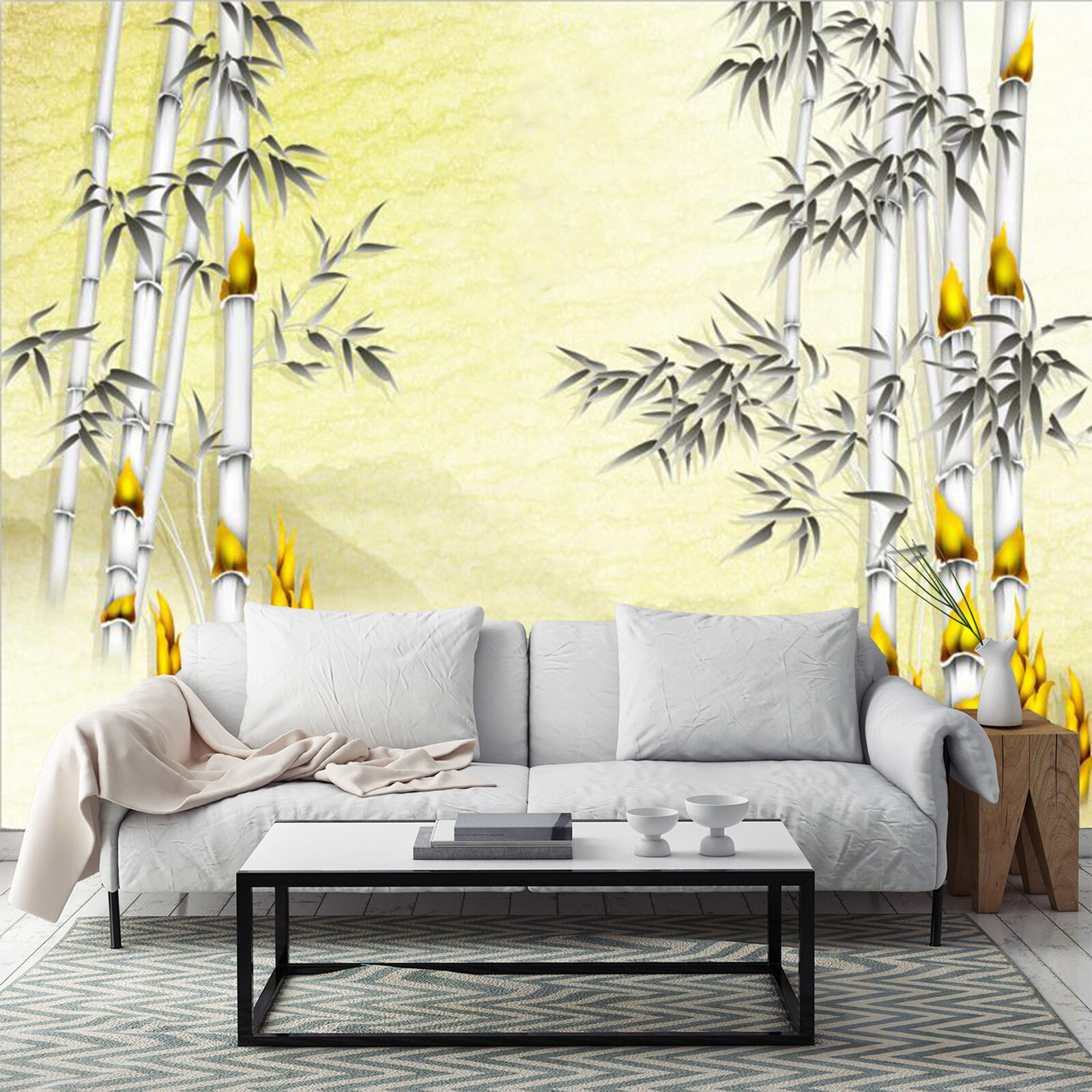 3D Golden bamboo 2525 Wall Paper Wall Print Decal Wall Indoor Murals Wall US