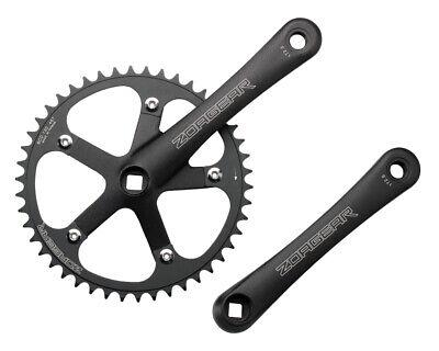 New Black Single Speed Track Fixed Gear Crank Crankset 172.5mm 44 Teeth 130 BCD