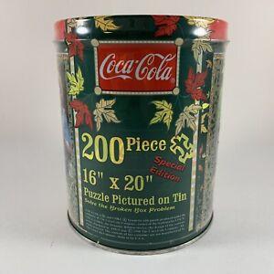 Coca-Cola 200 Piece Puzzle Special Edition Vintage 1998 Sealed Tin