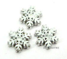 LOT 10 pieces Snow flake floating charms for living locket free shipping FC328