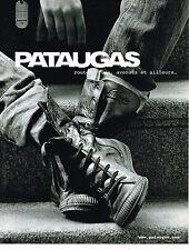 PUBLICITE ADVERTISING 094  2009  PATAUGAS  chaussures  boots