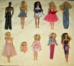 Barbie-Doll-Lot-Lot-of-10-Dressed-Barbie-amp-Friends-Dolls-Lot-4