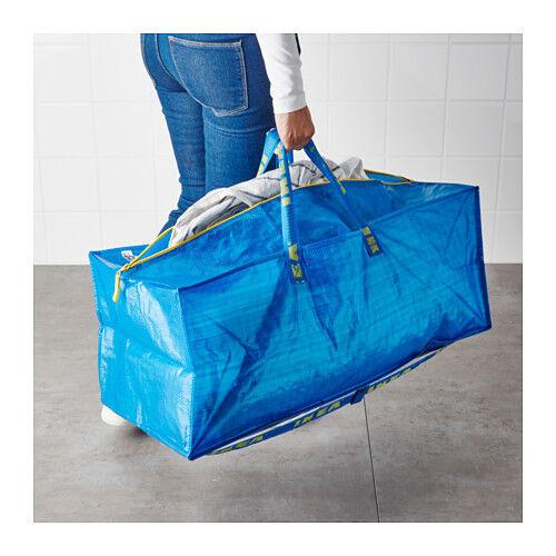 IKEA FRAKTA Large Trunk ZIPPED Blue Bag Storage Laundry Backpack 5 Bags | eBay  sc 1 st  eBay & IKEA FRAKTA Large Trunk ZIPPED Blue Bag Storage Laundry Backpack 5 ...