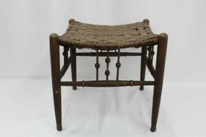 RARE-1800-Aesthetic-Liberty-amp-Co-THEBES-Foot-Stool-ca-1870-1900-bamboo-rattan