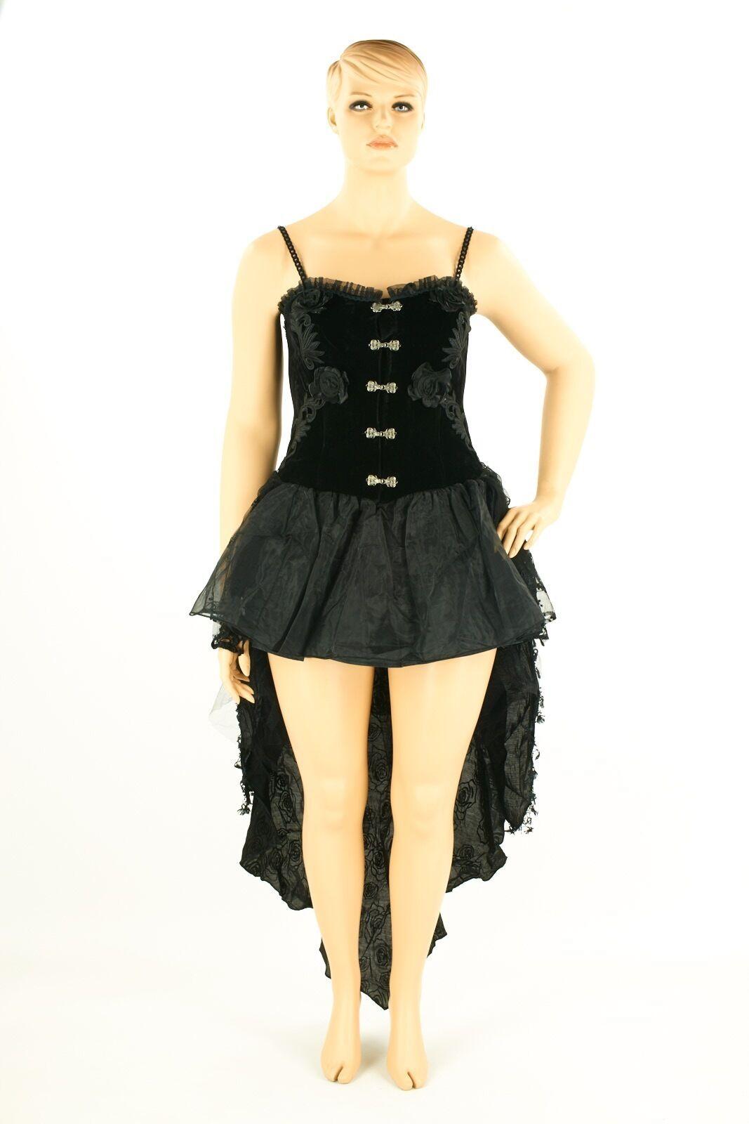 Spanish Style Corsage mit Minirock, Abendkleid, Partykleid, Steampunk, Gothic