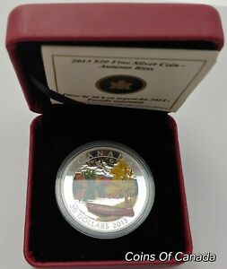 2013-Canada-Autumn-Bliss-20-Coin-1-oz-Fine-Silver-Orig-Box-coinsofcanada