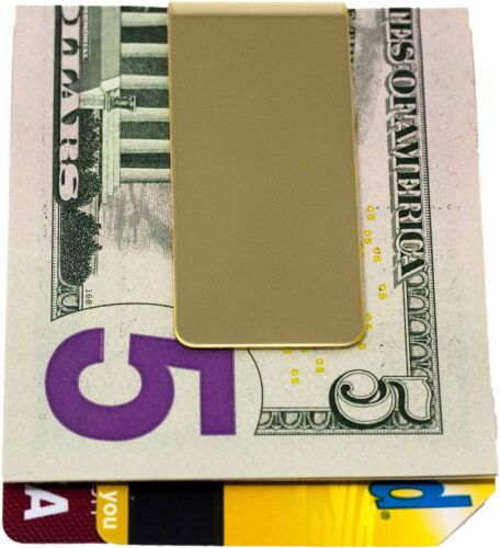 Shiny Gold Stainless Steel Boxed Money Clip