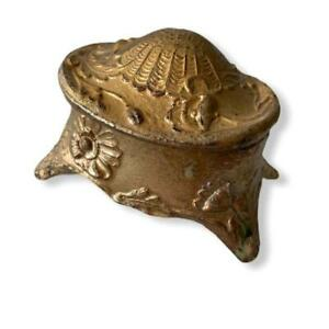 Tiny-Antique-Jewelry-Box-Sea-Shell-Gilt-Trinket-Box-Art-Nouveau