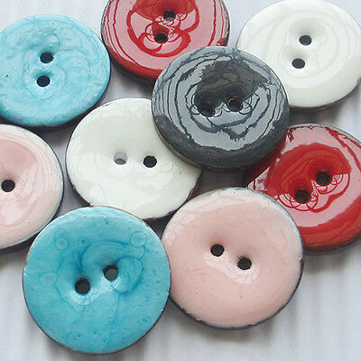 10//40pcs 45mm Wood Round Button Sewing Buttons Craft Doll Kid Appliques