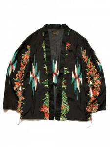 d545707a6fc KAPITAL JP Kimono Style Silk Rayon Shirt Hibiscus Ortega Prt Size-3 ...