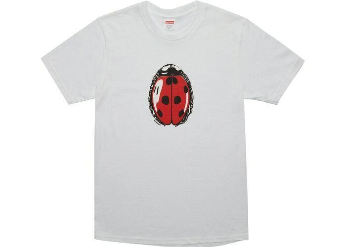 Supreme Mariquita Camiseta SS18 Camiseta Hombre Hecho en Eua  Tamaño Grande Nwt  alta calidad y envío rápido