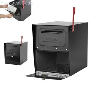 Large Locking Mailbox Security Post Mount Secure Lockable
