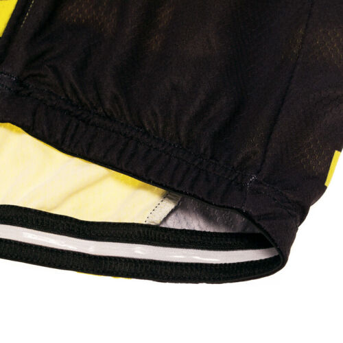 New Men/'s Cycling Jersey Yellow Breathable Short Sleeve Outdoor Riding Shirt