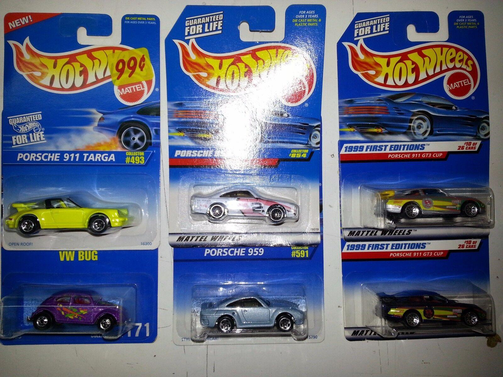 Hot Wheels Porsche VW Lot of 6