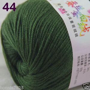 Sale-1-Skein-x50g-Baby-Cashmere-Silk-Wool-Children-hand-knitting-Crochet-Yarn-44