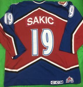d382821aba3 VTG CCM Colorado Avalanche Joe Sakic NHL Jersey Men's SZ XL Captain ...