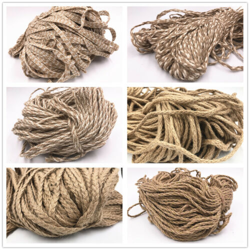 5M Rustic Jute Twine String Soft Natural Brown Burlap Hessian Cord Optional