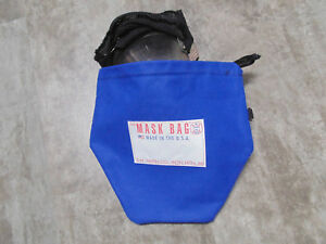 S.M. Smith Co. SCBA Mask Bag, MB3-302,10 OZ Cotton Canvas W/ Fleece liner,Draw.