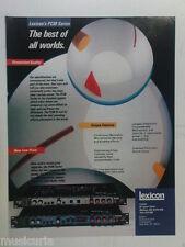 retro magazine advert 1984 LEXICON PCM