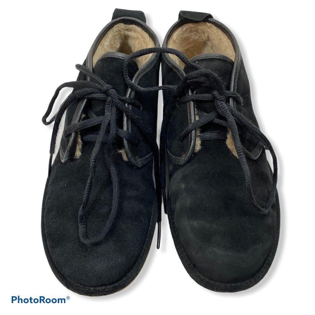 UGG Maksim Ankle Chukka Suede Boots Black Men's 7 Black # 016680 Lace Up u