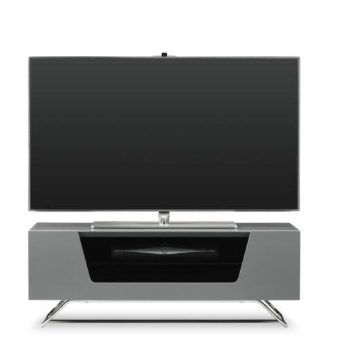 Alphason Chromium Grey TV Stand High Gloss 1000mm