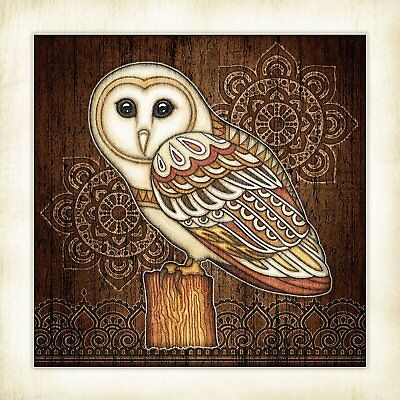 "Barn Owl Canvas Art Print Vintage Antique Animal Audubon Bird Poster 12/"" X 18/"""