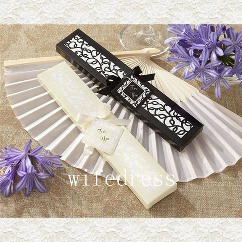 Wedding Gifts For Guests Ebay : ... Bridal Chinese Bamboo Silk Hand Fan Wedding Favors Guests Gifts eBay