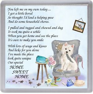 West-Highland-White-Terrier-Coaster-034-HOME-SWEET-HOME-Poem-034-Gift-by-Starprint