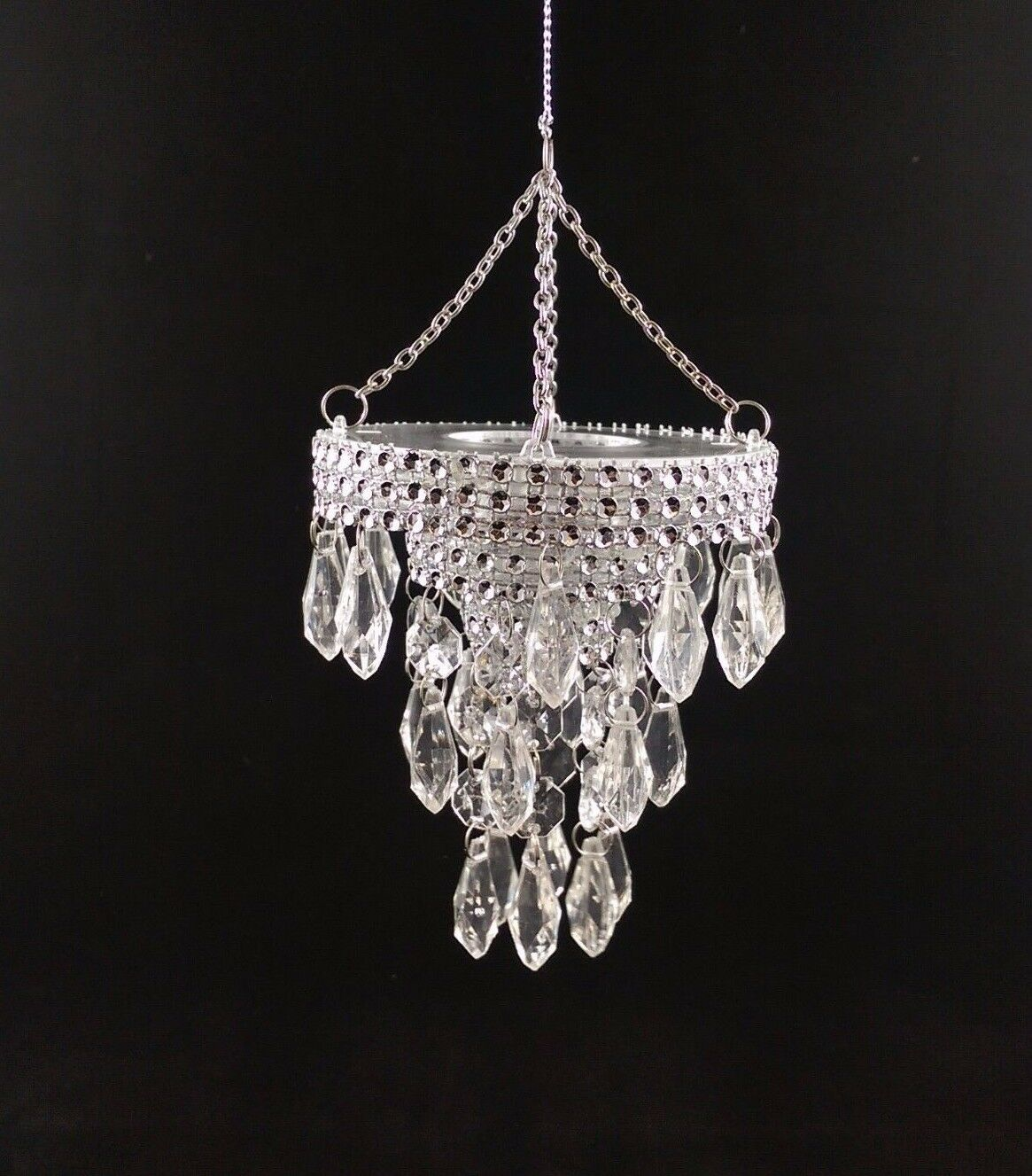 4 Acrylic Crystal Chandelier Christmas Hanging Ornament Decor For Sale Online