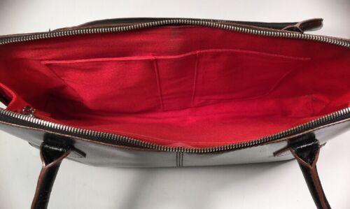 Baumwollfutter Schwarzes Handtasche Hobo Cond The Reiverschluss Exc Schlieen Rotes Leder Original qnROnTS