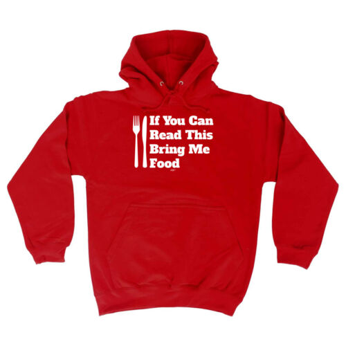 Funny Novelty Hoodie Hoody hooded Top Bring Me Food