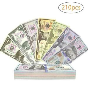 Prop-Money-Play-Money-Game-Realistic-Paper-Money-Full-Print-2-Sided-210Pcs
