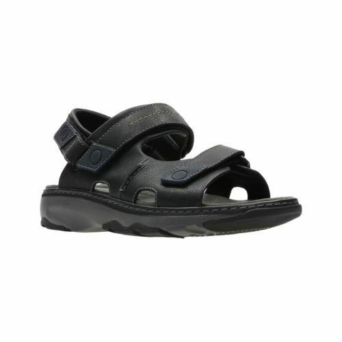 Clarks Raffe Coast Black Leather Men's Sandals UK Size 9 1/2 G